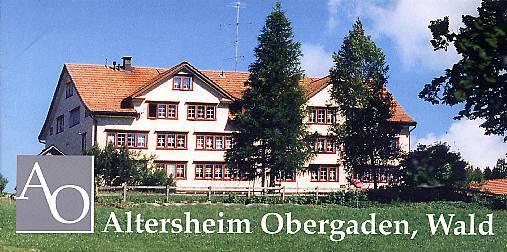 Altersheim obergaden wald
